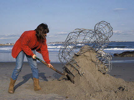 Cairn — Body/Sea (Temporary installation at Maine beach)